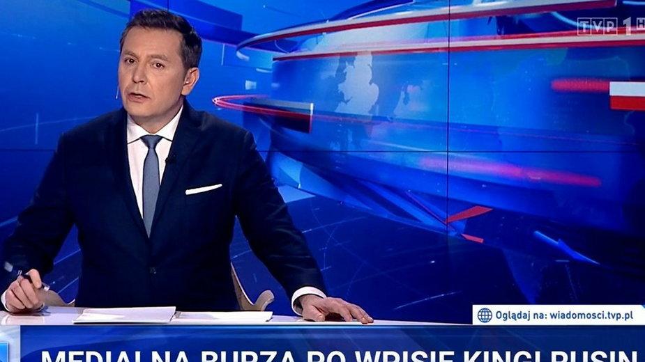 """Wiadomości TVP"": kadr z programu"