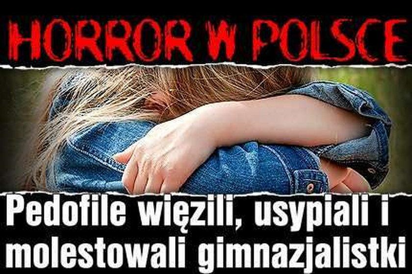 Horror w Polsce! Pedofile więzili, usypiali i molestowali gimnazjalistki