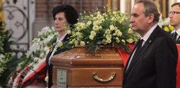 Łzy na pogrzebie Piotra Nurowskiego