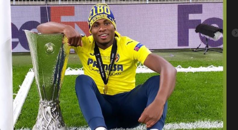 Samuel Chukwueze has won the Europa League with Villarreal  (Instagram/Samuel Chukwueze)