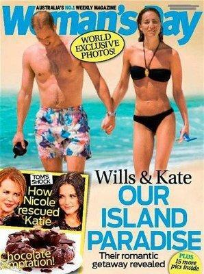 Kate i William na plaży