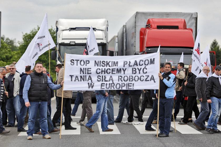 Protest pracwoników