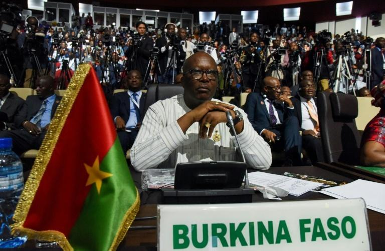 "Burkina Faso's President Roch Marc Christian Kabore urged the country to stand together in the fight against ""terrorism"""