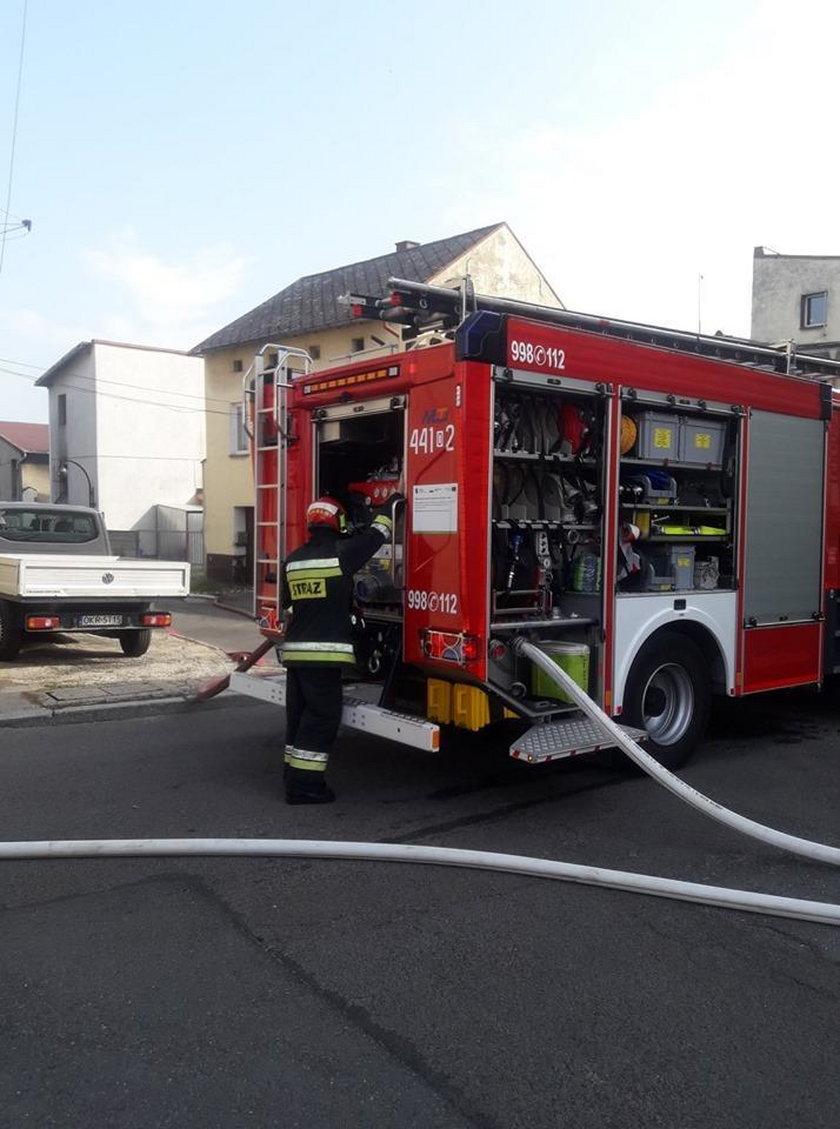 Pożar w Krapkowicach. Nie żyje mężczyzna