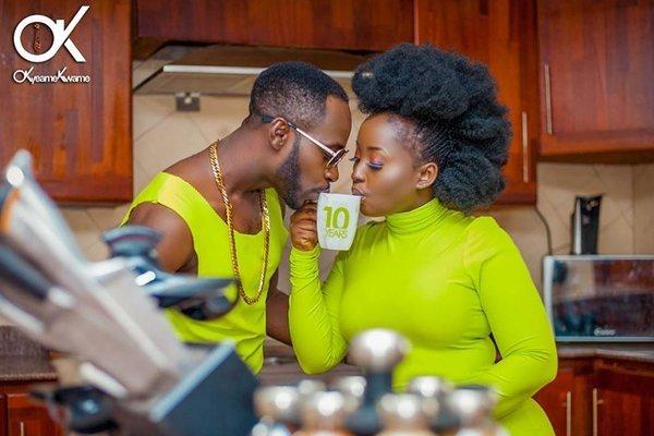 Okyeama Kwame and his wife, Annica