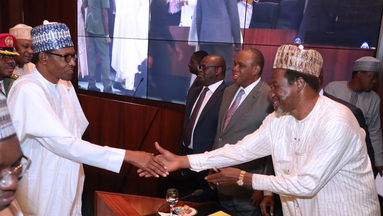 President Muhammadu Buhari presided over the signing of agreement between Afreximbank, Bank of Industry (BOI) and Nigerian Sovereign Investment Authority (NSIA). with Nigeria Special Economic Zones Investment Company (NSEZCOM) held at the Council Chambers, State House, Abuja.