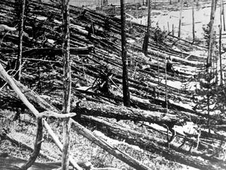 Devastation caused by the Siberian Meteo