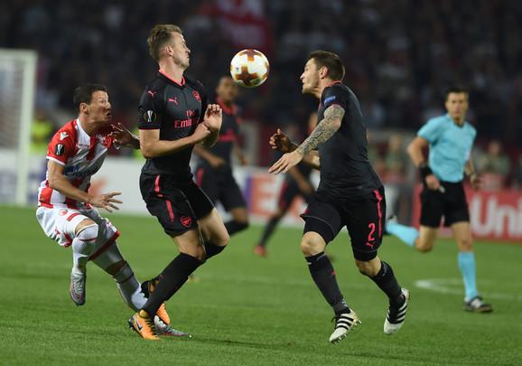 Detalj sa meča Crvena zvezda - Arsenal