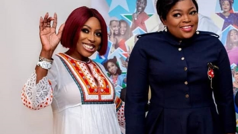 Funke Akindele-Bello has revealed that Mo Abudu wrote the story that made up the upcoming film, 'Your Excellency'. [Instagram/moabudu]