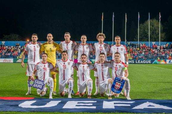 Fudbalska reprezentacija Srbije pred meč sa Crnom Gorom u Podgorici (0:2)