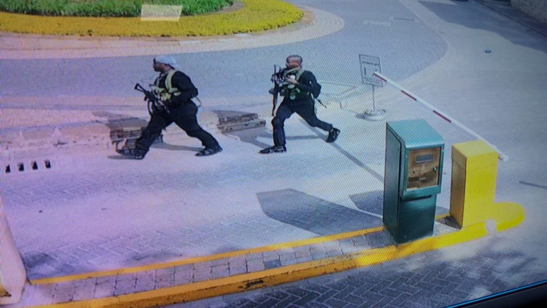 Photos of two of the attackers during the attack on Dusit hotel