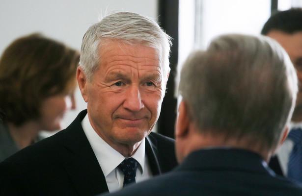 Sekretarz generalny Rady Europy Thorbjoern Jagland w Warszawie