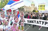 miting sns i protest protiv diktature