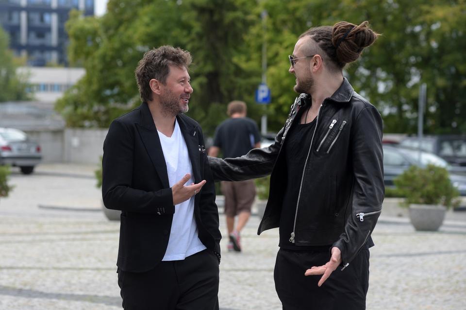 """Spotkanie z jurorami i prowadzącymi 7. edycję """"The Voice of Poland"""" - Andrzej Piaseczny i Baron"""