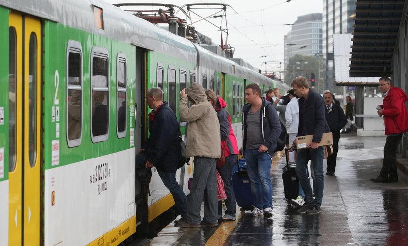 rozkładów pociągów podmiejskich