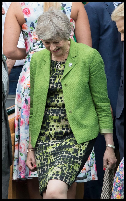 Premijerka je juče ispratila muško finale Vimbldona, na kojem je trijumfovao Rodžer Federer