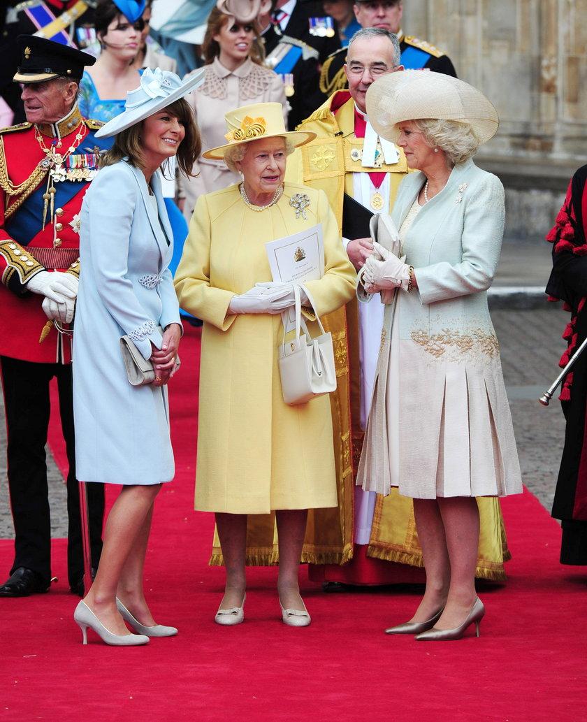 Carole Middleton, Królowa Elżbieta II, Camilla
