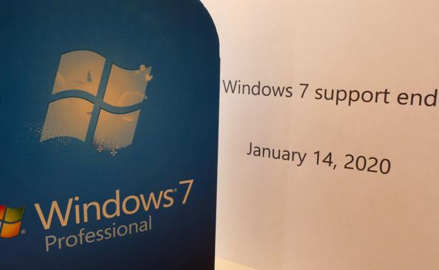 Po 10 latach, 14 stycznia 2020 r., okres wsparcia dla systemu Windows 7 dobiegł końca