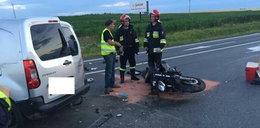 Motocyklista nie przeżył zderzenia z autem. Jest nagranie