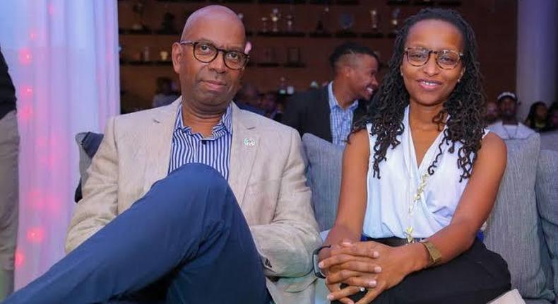 Safaricom CEO Bob Collymore with his wife Wambui. Safaricom Chairman Nicholas Ng'ang'a confirms Bob Collymore to be laid to rest on Tuesday July 2, 2019