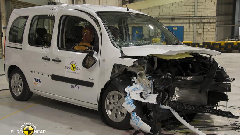 Mercedes citan kombi (osobowa odmiana tego dostawczaka), czyli wspólne dzieło inżynierów niemieckiej marki i koncernu Renault-Nissan (bliźniak renault kangoo), trafił w niszczące ręce specjalistów z Euro NCAP - organizacji badającej bezpieczeństwo samochodów...