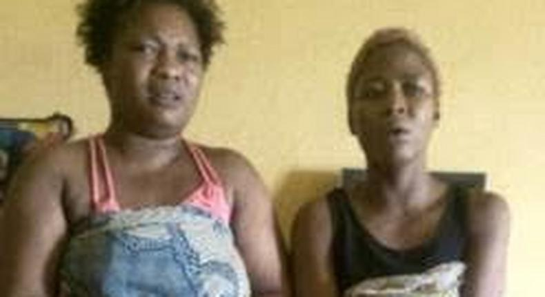The suspects, Kudirat Raji alias Angela and Esther Basiru