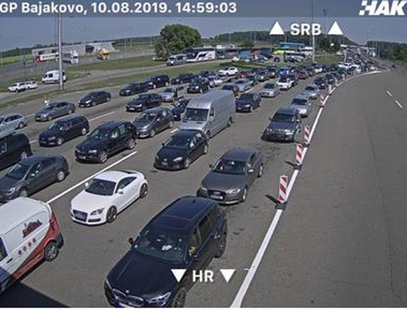 Granični prelaz Bajakovo- ulaz u Hrvatsku iz Srbije