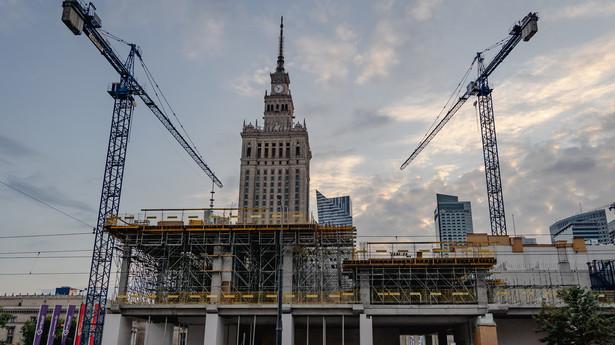 Plac budowy Muzeum Sztuki Nowoczesnej w Warszawie