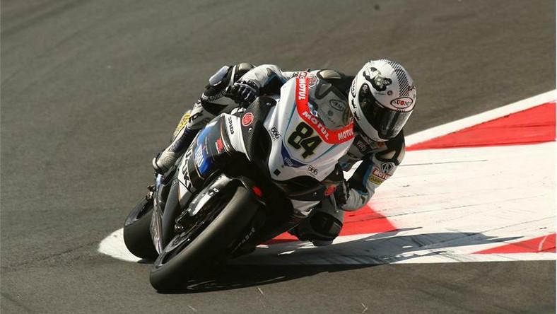 Michel Fabrizio, zawodnik zespołu Suzuki Alstare Racing, wywalczył podium