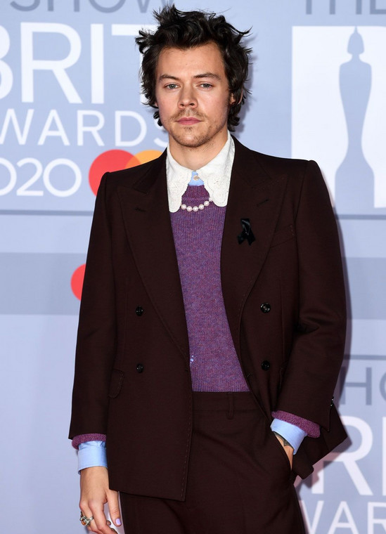 Harry Styles at the 40th BRIT Awards Red Carpet [Getty Images]