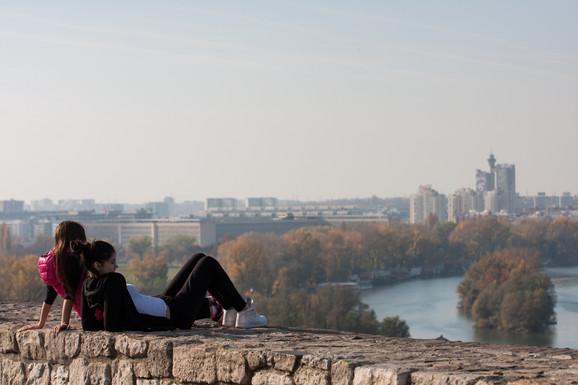 Pogled sa Kalemegdana se dopada mnogim turistima