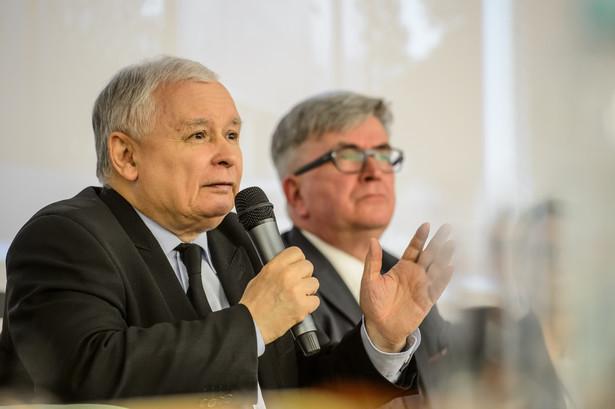 Jarosław Kaczyński podczas sesji wspomnieniowej konferencji Finanse publiczne a rozwój gospodarki - in memoriam profesor Zyta Gilowska.