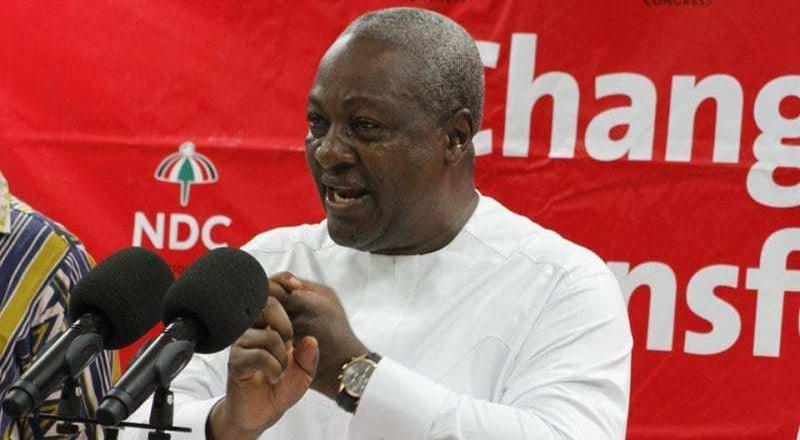 Mahama promises to amend National Pension Act if elected President