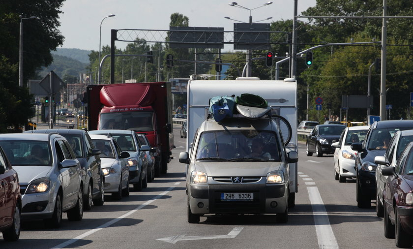 Korki na obwodnicy w kierunku Gdyni.