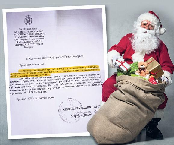 Procenjuje se da će za četiri godine, koliko nije bilo poklona u Ministarstvu rada, sada biti potrebno oko tri miliona dinara