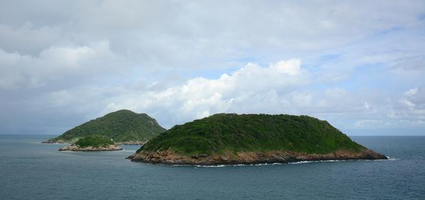 Małe wysepki archipelagu Con Dao