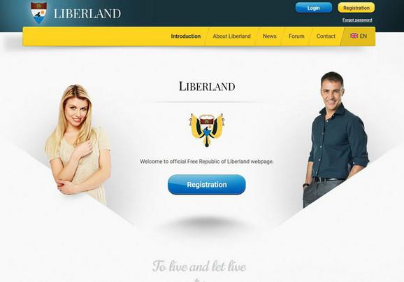 Početna stranica sajta Liberlanda