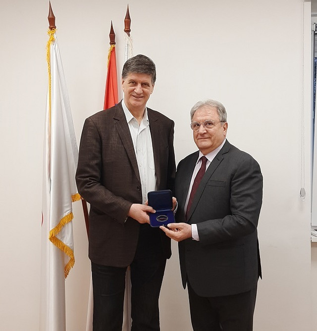 Potpredsednik OKS-a Žarko Zečević i predsednik Međunarodne bejzbol federacije, Rikardo Frakari