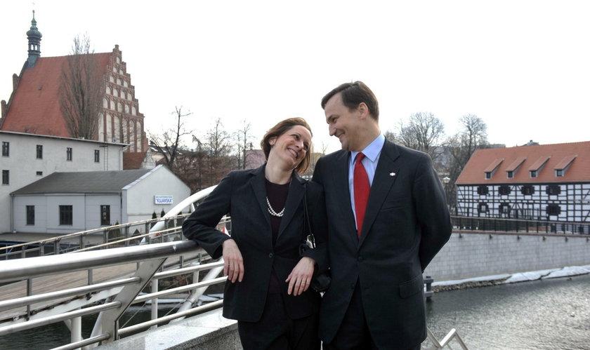 Anne Applebaum i Radosław Sikorski