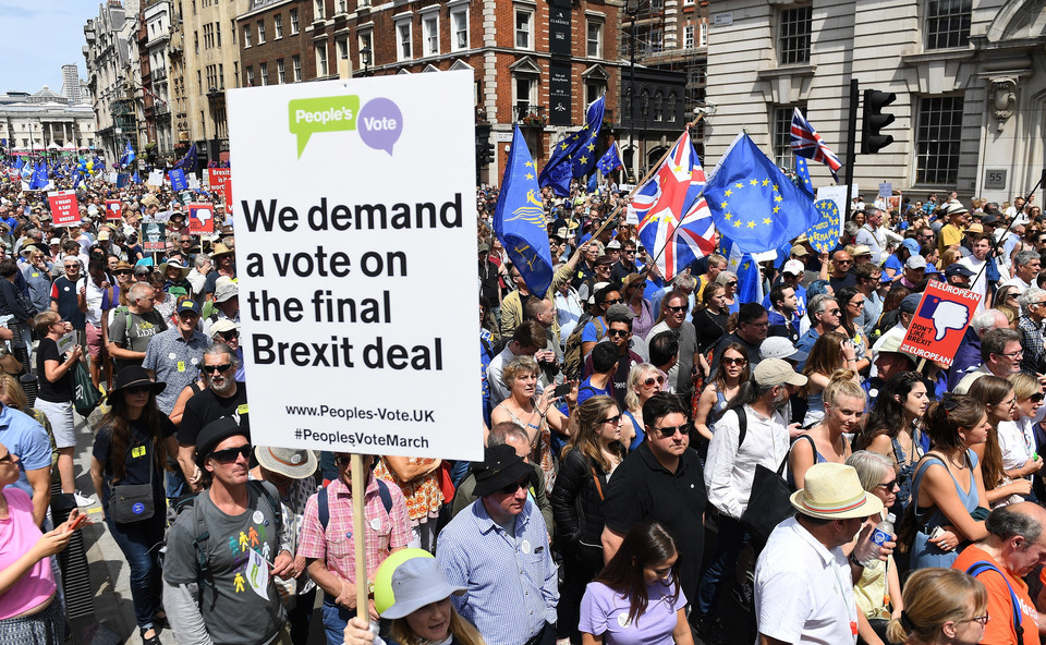 epa06833223 - BRITAIN BREXIT PEOPLE'S MARCH DEMONSTRATION (People's March Against Brexit)