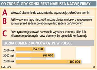 Firmy walczą o domeny w polskim internecie
