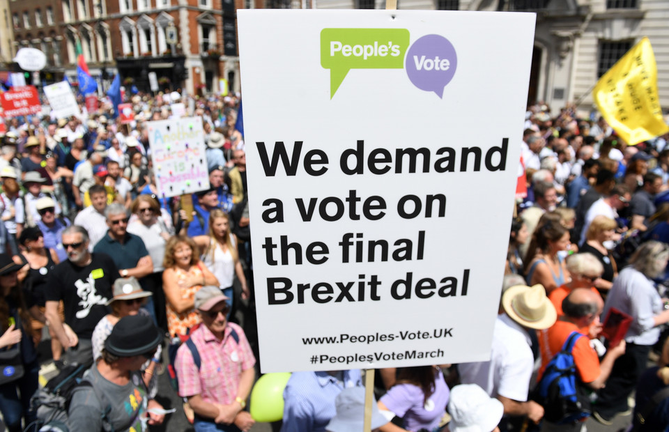 epa06833221 - BRITAIN BREXIT PEOPLE'S MARCH DEMONSTRATION (People's March Against Brexit)