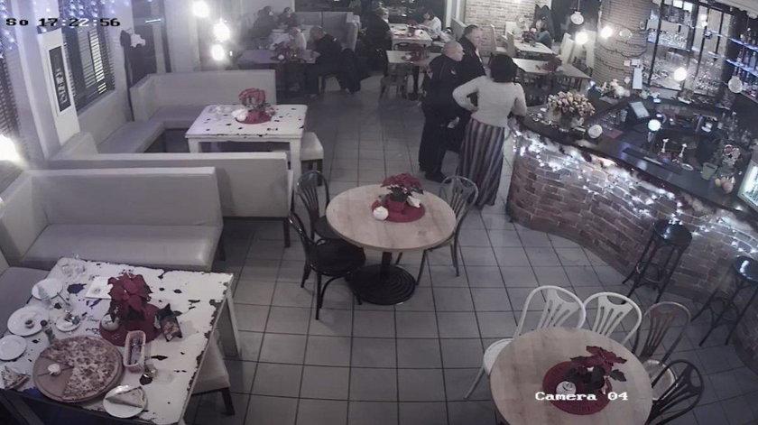 Zdemolował restaurację w Kozienicach. Nagrała go kamera