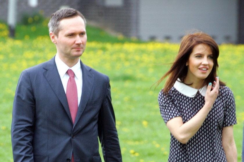 Jarosław i Ewelina Wałęsowie