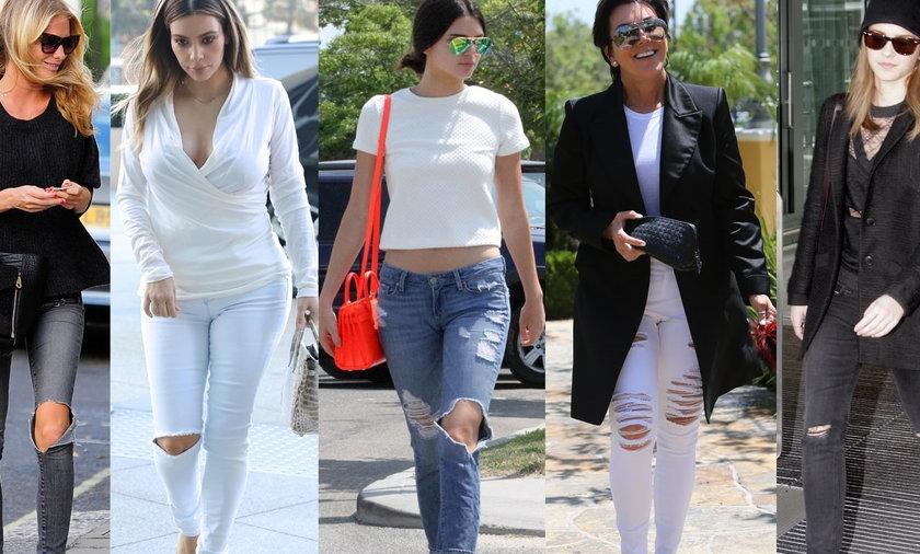 Jak nosić jeansy z dziurami