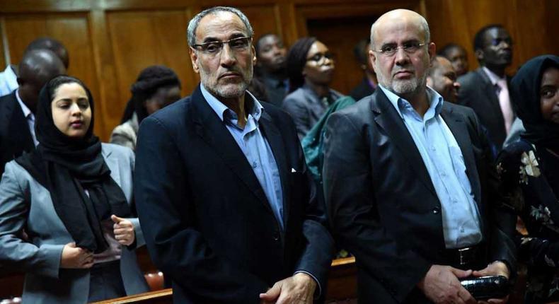 Iranians Ahmad Abolfathi Mohammad (left) and Sayed Mansour Mousavi in court
