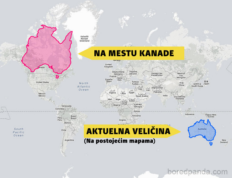 Geografska Varka Mislili Ste Da Je Rusija Veca Od Afrike Pogledajte