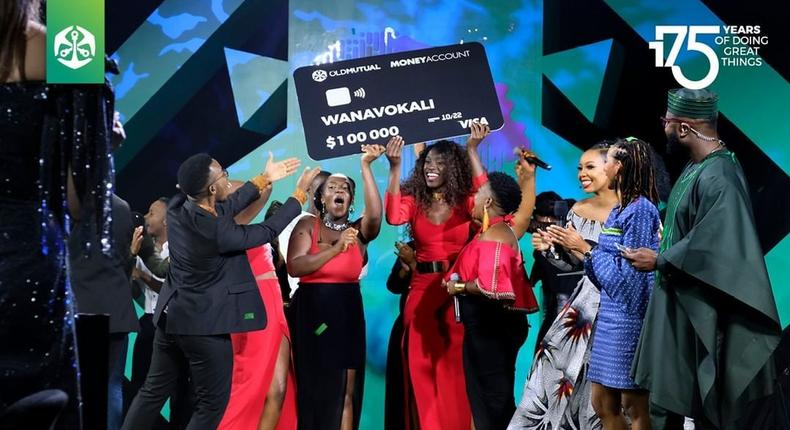 Kenyan Music group 'Wanavokali' crowned winners of Old Mutual's 'Amazing Voices Africa, taking home Sh10M