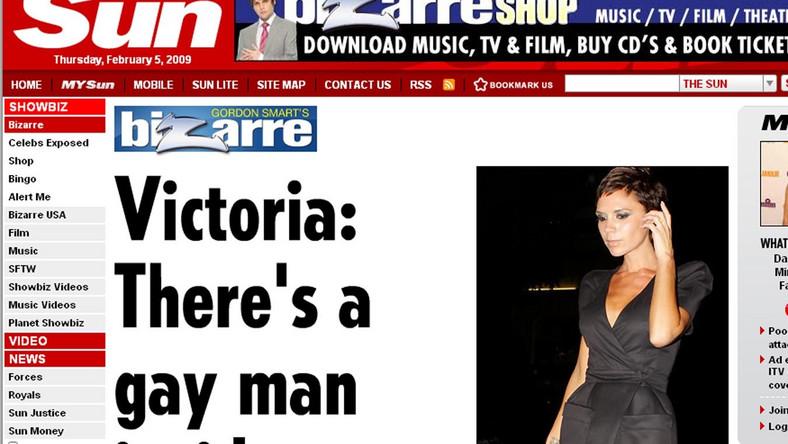 Victoria Beckham: Bo we mnie jest gej