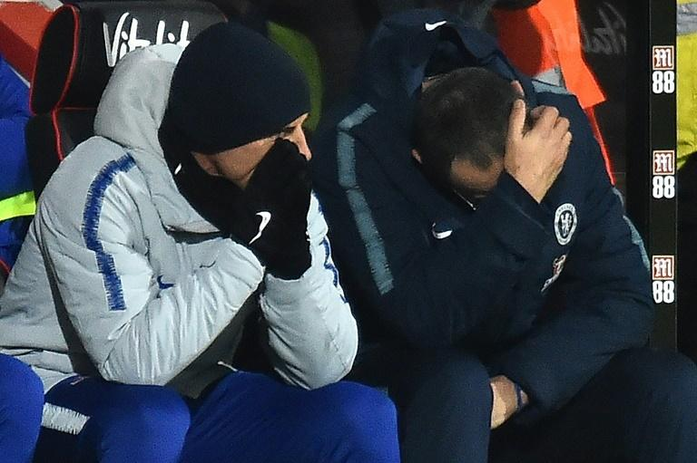 Maurizio Sarri (right) saw his side humbled 4-0 by Bournemouth in midweek